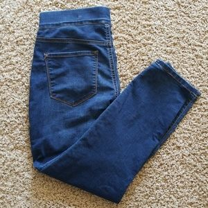 Nine west pull on skinny crop denim jeans 8
